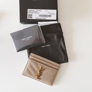 YSL Monogram card holder